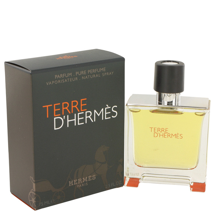 terre d 39 hermes by hermes pure parfum 75ml for men. Black Bedroom Furniture Sets. Home Design Ideas