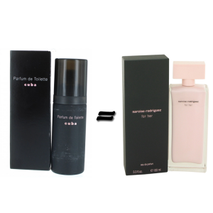 Milton Lloyd Cuba for Women and Narciso Rodriguez for her