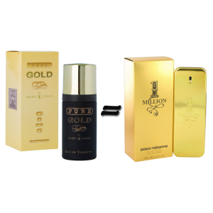 Milton Lloyd Pure Gold for Men and Paco Rabanne 1 Million For Men